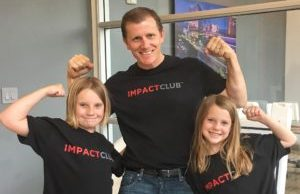 Mike and Girls with Impact Club